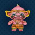 Ramakien Buddy Keychain - GOMUTR (ตุ๊กตาพวงกุญแจรามเกียรติ์ โกมุท)  รายละเอียดสินค้า • ขนาด (W)65 x (D)35 x (H)95 mm • น้ำหนัก 15 g • ผลิตจากผ้า Polyester