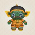 Ramakien Buddy Keychain - KUMPAKAN (ตุ๊กตาพวงกุญแจรามเกียรติ์ กุมภกรรณ)  รายละเอียดสินค้า • ขนาด (W)65 x (D)35 x (H)95 mm • น้ำหนัก 15 g • ผลิตจากผ้า Polyester