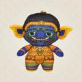 Ramakien Buddy Keychain - NONTHAJIT (ตุ๊กตาพวงกุญแจรามเกียรติ์ นนทจิตร)  รายละเอียดสินค้า • ขนาด (W)65 x (D)35 x (H)95 mm • น้ำหนัก 15 g • ผลิตจากผ้า Polyester