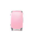"""กระเป๋าเดินทางรุ่น A-008 สี Pink-Blue (หน้าชมพู-หลังฟ้า) ขนาด 20 นิ้ว ราคา 1,600 บาท  ขนาด 24 นิ้ว ราคา 1,800 บาท  น้ำหนักกระเป๋า ขนาด หนา*กว้าง*สูง (รวมล้อ)  ขนาด 20"""" 2.5 kg 23cm*33cm*51cm  ขนาด 24"""" 3.5 kg 25cm*43cm*66cm  คุณสมบัติ  -ผลิตจากวัสดุ Fiber คุณภาพสูง -สีสันสดใสสวยงาม กันน้ำ เช็ดทำความสะอาดง่าย -อุปกรณ์ประกอบแข็งแรง คันชักคู่ผลิตจากเหล็กคุณภาพสูง -คันชักปรับระดับได้ 2 ระดับ แข็งแรงทนทาน น้ำหนักเบา -มีรหัสล๊อคกระเป๋าTSA lock เป็นแบบรหัส 3 ตัว -ล้อคู่ 4 ล้อ หมุน 360 องศา"""
