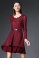 """""""Mirror Dress พร้อมให้สาวๆได้จับจองไอเท็มสุดชิคสำหรับสาวออฟฟิศสมัยใหม่กับชุดเดรส Red Wine Elegance Lace  ที่ผลิตจากผ้าสีพื้นในสีแดง Red Wine แต่งดีเทลด้วยผ้าลูกไม้เพื่อความโรแมนติกและน่าค้นหา เพียงแมทช์เข้ากับรองเท้าส้นสูงหรือส้นแบนก็ได้ลุคสมบูรณ์แบบอย่างง่ายดาย  - ตัดเย็บจากผ้าลูกไม้ - ดีไซน์คอกลม - แขนยาว - ปิดชุดด้วยซิปด้านหลัง - ทรงพอดีตัว - มีซับใน  ไหล่ x รอบอก x รอบเอว x ความยาว (นิ้ว) M ( 14"""""""" x 33"""""""" x  28.3"""""""" x32.6"""""""" )  L ( 14.4"""""""" x 34.6"""""""" x 29.9""""""""  x 33"""""""" ) XL ( 14.9"""""""" x 36.2"""""""" x 31.5"""""""" x 33.4"""""""" ) XXL ( 15.3"""""""" x 37.8"""""""" x 33"""""""" x 33.8"""""""" )""""  #เดรส #เดรสสั้น #เดรสสั้นแขนยาว #เดรสแขนยาว"""