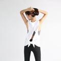 ชื่อสินค้า : เสื้อกล้าม Tied Up Tank in White  - เสื้อกล้ามผ้านุ่มสบาย ระบายเหงื่อได้ดี เหมาะสำหรับใส่เล่นกีฬาทุกประเภท   - สามารถใส่ได้สองแบบ ผูกเป็นโบว์ด้านหลัง หรือจะใส่แบบปล่อยเว้าหลังสวยๆก็เก๋ไปอีกแบบ -------------------------------------------------------- - Sleeveless jersey with low cut armhole and open back   - Made with light and soft to skin fabric   - Easy-going style perfectly paired with our Toner Bra  #ชุดออกกำลังกาย #เสื้อกล้าม
