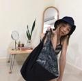 ชื่อสินค้า : Black flora 3 pocket in bag & snap botton - Handmade with Love -  #กระเป๋า #กระเป๋าผ้า #กระเป๋าสะพาย #กระเป๋าถือ #กระเป๋าผู้หญิง