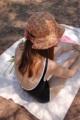 Tropical bow hat  Cotton japan fabric  ผ้าคอตตอนจากญี่ปุ่น ใส่ได้2ด้านค่า