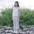 ชื่อสินค้า : Black striped cropped pants กางเกงเอวสูง ลายทางยาวช่วยให้ดูสูงขึ้น ผ้าลินินธรรมชาติ สวมใส่สบาย กางเกงเป็นกางเกงห้าส่วนช่วยทำให้ดูสูงขึ้น ไม่ตันด้วยค่ะ  fabric : linen 100%  #กางเกงขายาว #กางเกงห้าส่วน #กางเกงลายทางยาว #กางเกงเอวสูง #กางเกงผ้าลินิน
