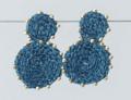 Striking Crochet Teal Rope Earrings