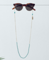Mint and Teal Stone with Feather Glasses Chain  Price shown is for 12 pieces per design. Larger bulk order please contact us to get a quote.