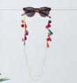 Mix Colour Tassels and Pom Pom Glasses Chain