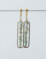 Amazonite Chip Stone Earrings