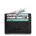 """:: ซองใส่บัตร """"Black"""" Card Holder หนังแท้ ::  ซองใส่บัตรหนังวัวแท้ Saffiano สี : ดำ แบรนด์ : Vavia ✔️มี 7 ช่อง : หน้า-หลัง ด้านละ 3 ช่อง ตรงกลาง 1 ช่อง ✔️ราคา : 280 บาท  ✔️ขนาด : 10.7 x 8 x 0.8 cm *** สามารถใส่บัตรได้ขั้นต่ำ 7 ใบ ตรงกลางสามารถใส่ได้มากกว่า 1 ใบ"""