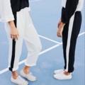 กางเกงดำแถบขาว