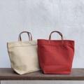 "Canvas bags Orange Brick & Cream Color Dimension: Width x Height x Base 14"" x 11"" x 5.5""  #canvasbags #madetoorderbags #bag #bags #handbag #handbags #กระเป๋า #กระเป๋าผ้า #กระเป๋าถือ #กระเป๋าผู้หญิง"