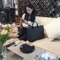 """เอารีวิวสวยๆ มาฝากคร้าา ❤️❤️ Dimensions : Width x Height x Base 15"""" x 12"""" x 3.5""""  #notebookbag #canvasbag #bag #bags #handbag #handbags #กระเป๋า #กระเป๋าถือ #กระเป๋าผ้า #กระเป๋าเอกสาร"""