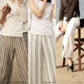 """ชื่อสินค้า : SARAH TROUSERS กางเกงขายาว เอวสูง ทรงกระบอกเล็ก สวมใส่สบาย ในวันชิวๆ หรือจะใส่คู่กับบิกินี ถ่ายรูปชิคๆที่ทะเลก็กำลังเป็นเทรนด์ฮิตของสาวๆในช่วงนี้  A GIRL SIZE S  WAIST       26"""" HIP             36"""" LENGTH   40""""  A GIRL SIZE M WAIST       28"""" HIP             38"""" LENGTH   40""""  COLOR  - SS.03    ZEBRA PRINT (WHITE WITH GRAY  STRIPED) - SS.04    BABY SNAKE  PRINT (WHITE AND BLACK STRIPED ) - SS.05    WHITE   FABRIC – LINEN – MOSCRAPE (WHITE WITH  BLACKSTRIPED)  #กางเกง #กางเกงผู้หญิง #กางเกงขายาว #กางเกงขายาวผู้หญิง #กางเกงผู้หญิงขายาว"""