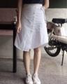 """ชื่อสินค้า : HADIYA SKIRT FREESIZE WAIST      24""""-29"""" HIP            34""""-39"""" LENGTH   21-24""""  COLOR  - WHITE - NAVY  FABRIC  - LINEN  #เสื้อผ้าผู้หญิง #กระโปรง  #กระโปรงยาว"""
