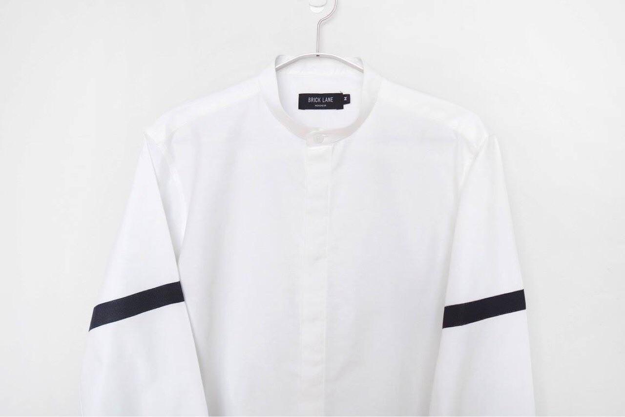 menswear,BrickLane,เสื้อผู้ชาย,เสื้อผ้าผู้ชาย,เสื้อเชิ้ต,เสื้อเชิ้ตสีขาว,เสื้อเชิ้ตแขนยาว,เสื้อแขนยาว,เสื้อเชิ้ตคอจีน,เสื้อคอจีน