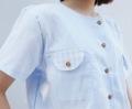 """วัสดุ : ผ้าคอตตอลเนื้อบางสบาย  ฟรีไซส์  • รอบอก 40"""" • ความยาว 20""""   *ตรงฝากระเป๋าครึ่งวงกลม แต่งด้วยผ้าลายสกอต น่ารักมากเลย **ใส่เป็นเสื้อคลุมก็ได้นะ  #เสื้อผู้หญิง #เสื้อผ้าผู้หญิง #เสื้อแขนสั้น"""