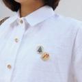 """ผ้า : ลิินิน วัสดุ : ตกแต่งด้วยกระดุมลายx'mas สี : ขาว  ฟรีไซส์  • รอบอก 40"""" • ความยาว 24""""  #เสื้อผ้าผู้หญิง #เสื้อผู้หญิง #เสื้อเชิ้ต #เสื้อเชิ้ตผู้หญิง #เสื้อเชิ้ตแขนสั้น"""