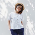 """วัสดุ : ผ้าคอตตอลเนื้อบางสบาย  ฟรีไซส์  • รอบอก 40"""" • ความยาว 20""""   *ลายสกอตน่ารักมากเลย **ใส่เป็นเสื้อคลุมก็ได้นะ  #เสื้อผู้หญิง #เสื้อผ้าผู้หญิง #เสื้อแขนสั้น"""