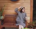 """:: Yurinrin Dress :: • Cotton Linen • Oversize Style • Chest 44"""" • Hip 56"""" • Length 38.5"""" • 1,090THB. **ข้อแขนจัมพ์น่ารักๆ ***ใส่สบายมากๆ  #เสื้อผ้าผู้หญิง #เดรส #เดรสสั้น #เดรสแขนยาว #เดรสสั้นแขนยาว"""