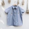 ":: Flowers in hands Shirt -Grey:: • Cotton • Embroidery Work • Cotton • Chest 41"" • Length 23.5"" • 550THB. **งานปัก ปักลายละเอียดมาก  #เสื้อผ้าผู้หญิง #เสื้อผู้หญิง #เสื้อเชิ้ต #เสื้อเชิ้ตผู้หญิง #เสื้อเชิ้ตแขนสั้น"