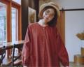 """:: Yurinrin Dress :: • X'mas collection🌲 • Cotton Linen • Oversize Style • Chest 44"""" • Hip 56"""" • Length 38.5"""" • 1,090THB. **ข้อแขนจัมพ์น่ารักๆ ***ใส่สบายมากๆ ****ต้องสีนี้เลยปาร์ตี้x'mas สิ้นปีนี้  #เสื้อผ้าผู้หญิง #เดรส #เดรสสั้น #เดรสแขนยาว #เดรสสั้นแขนยาว"""