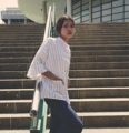 """ชื่อสินค้า : white kimono cape เสื้อคลุมสีขาวลายเส้นดำ ทรงกิโมโน โคร่งๆ ผ้าฝ้ายใส่ไม่ร้อน Mix&Matchกับเสื้อได้หลายแบบ สีพื้นหาเสื้อข้างในใส่ง่าย  Size : Free size อก 52"""" / บ่า 26"""" / ความยาว 27"""" (นางแบบสูง 167 cmเนื้อผ้า : ผ้าฝ้าย Color : สีขาว ลายเส้นดำ ราคา : 390 บาท  #เสื้อคลุม #เสื้อคลุมทรงกิโมโน #เสื้อคลุมกิโมโน #เสื้อคลุมแขนยาว #เสื้อกิโมโน"""
