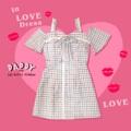 "In love dress S อก 34"" เอว 27"" สะโพก 34"" ยาว 26"" - M 34"" เอว 29"" สะโพก 36"" ยาว 26"" - L อก 36"" เอว 31""  สะโพก 38""  ยาว 26""  #เดรส #เดรสสั้น #มินิเดรส #เดรสสั้นเปิดไหล่"