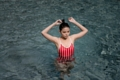 """:: ชุดว่ายน้ำผู้หญิง - Crossback - [Stripe/red] :: Minimal swimwear that you'll love with best quality and reasonable price. Every pieces are design by the designer. We use high quality textile that are UV protected and every swimwear come with bra pads inside.  ชุดว่ายน้ำมินิมอล (minimal) เรียบหรู ราคาพอดี คุณภาพดีเยี่ยม ออกแบบโดยนักออกแบบ (designer) ฝีมือดี ใช้ผ้าสำหรับชุดว่ายน้ำโดยเฉพาะ กันยูวี มีซับในทุกตัว พร้อมฟองน้ำรับทรงในตัว เราตั้งใจผลิตเย็บอย่างดีทุกชิ้นเพื่อลูกค้าทุกท่าน 😊 ไม่แน่ใจปรึกษาเรื่อง size ก่อนสั่งซื้อได้ที่ Ark to seller นะคะ -------------------------------------------------------------- [Detail] High quality cutting swimwear Thailand. cross back  color :  Stripe/red size in: s m l material : 80% nylon 20% lycra -------------------------------------------------------------- **SIZE CHART** Size S: Bust 29.5""""-31.5"""" l Waist 26"""" l Hip 32""""-33.5"""" Size M: Bust 31""""-32.5"""" l Waist 28"""" l Hip 34""""-36.5"""" Size L: Bust 33""""-34.5"""" l Waist 30"""" l Hip 36.5""""-39""""  --------------------------------------------------- #women #ผู้หญิง #ชุดว่ายน้ำ #ชุดว่ายน้ำผู้หญิง #ชุดว่ายน้ำวันพีช"""