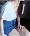 :: เสื้อยืดเว้าหลัง - white T-shirt ::  รายละเอียดสินค้า + ขนาด : Freesize + โทนสี : ขาว + ราคา : 300 บาท  . . . . . . . . . . . . . . . . . . . . . . . . . . . . . . . . . .  คำอธิบายสินค้า (Description)  เสื้อยืดผ้าเนื้อดี เว้าด้านหลังใส่นุ่มเย็นสบาย ไม่ใช่ผ้าเรย่อนนะคะ สามารถใส่คู่ได้ทั้งกางเกงยีนส์ขาสั้น และขายาว หรือจะใส่คู่กับกระโปรงหรือกางเกงแบบอื่นก็ได้ โชว์หลังเล็กๆ กำลังฮิตอยู่ในตอนนี้เลยค่ะ  . . . . . . . . . . . . . . . . . . . . . . . . . . . . . . . . . .  #llucystyle #women #ผู้หญิง #เสื้อผ้าผู้หญิง #เสื้อผู้หญิง #เสื้อยืด #เสื้อยืดแขนสั้น #เสื้อยืดคอกลม #เสื้อยืดเว้าหลัง #เว้าหลัง