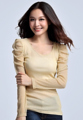 """จับคู่สไตล์ลำลองในวันสบายๆ ของคุณด้วยการเพิ่มไอเท็มใส่สบายเข้าไปในลุคอย่าง เสื้อเบลาส์ Gold Silk Hemp  จากแบรนด์ Mirror Dress ตัวนี้ที่ตัดเย็บจากผ้าไนล่อนเนื้อยืดใส่สบาย แต่งดีไซน์คอกลม-แขนยาว ยกจีบช่วงไหล่และต้นแขนเพิ่มความน่ารัก  - ตัดเย็บจากผ้าไนล่อน - ดีไซน์คอกลม - แขนยาว - แบบสวม - ทรงปกติ - มีซับใน  ความกว้างไหล่ x รอบอก x รอบเอว x ความยาว x ความยาวแขน M (13"""" x 30.7""""-34.6"""" x 25""""-29"""" x 23"""" x 24"""") L (13.3"""" x 32""""-36"""" x 27""""-30"""" x 23.6"""" x 24.5"""") XL (13.7"""" x 33.8""""-37.7"""" x 28""""-32"""" x 24"""" x 24.8"""")  #เสื้อผ้าผู้หญิง #เสื้อผู้หญิง #เสื้อแขนยาว"""