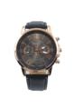 Geneva Chronograph Watch นาฬิกาข้อมือสายหนัง พร้อมหน้าปัดแบบ 3 Quartz  คุณสมบัติ - กระจกเรซิน mineral glass - วัสดุตัวเรือน / กรอบ: เรซิน PVC - สายหนัง - การบอกเวลาแบบทั่วไป - อะนาล็อก: เข็มนาฬิกา 3 เข็ม (ชั่วโมง นาที วินาที) - ความแม่นยำ: 20 วินาทีต่อเดือน - อายุการใช้งานแบตเตอรี่ประมาณ: 3 ปีกับถ่านกระดุม SR626SW  ขนาด เส้นผ่านศูนย์กลางหน้าปัด 3.5 cm, สายหนัง 3 x 24 cm น้ำหนักรวม: 0.035kg
