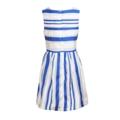 """ชุดเดรสดีไซน์เรียบแต่เก๋จาก Mirror Dress ตัดเย็บจากผ้าออแกนซ่าลายทางบุซับในด้วยสีพื้นในทรงคอกลม แขนกุด ชุดเดรสแบบมีซิป ใส่ง่ายมาพร้อมกับเข็มขัดผ้าเข้าชุดกัน   - ตัดเย็บจากผ้าออแกนซ่าและโพลีเอสเตอร์ - ดีไซน์คอกลม - แขนกุด - แบบสวมพร้อมซิป - กระโปรงทรงบานออก - มีซับใน   ไหล่กว้าง x รอบอก x ความยาว S (13"""" x 34"""" x 32"""" )  M (14"""" x 35"""" x 33.5"""" )  L (15"""" x 36.5"""" x 35"""" )  #เสื้อผ้าผู้หญิง #เดรส #เดรสสั้น #เดรสสั้นแขนกุด #เดรสแขนกุด #มินิเดรส"""