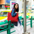 """ZINC - ON THE GO""  Category: Tote Bag Materials: Canvas Size: 4""W x 19""L x 15""H Color: Red (สีแดง)  Compartments: + Outer Pockets: 1 Pocket at The Front + Inner Pockets: 1 Normal Pocket, 1 Middle Pocket  Capacity: + Mobile Phone + Wallet + Small Umbrella + Ipad + Books / Notebooks + Cosmetics + Stationary  HANDMADE IN BKK, THAILAND * Please note that due to lighting effect and computer color, the actual color might be slightly different from the picture.*  #แคนวาส #กระเป๋า #กระเป๋าหิ้ว #กระเป๋าสะพาย #สีแดง #zinc #zincbag"