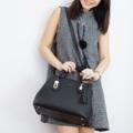 "CYNTHIER Lady Lyra   Simple yet Luxurious for every occasions  ▪️Leather : Premium PU ▪️Dimensions : 6""x12""x8"" ▪️Light Gold toned hardware ▪️Colors : Light Grey, Maroon and Black  ▪️Compartment  2 Main Slots 1 Main Central Zip-closure 2 Inside Small Pockets 1 inside Zipped Flat Pocket  Snap Hook-closure   ▪️Strap-lock Handles (Removable) ▪️Handle Drop : 4"" ▪️Removable and 5 Steps Adjustable Leather ▪️Shoulder Strap ▪️4 Protective bag bottom studs ▪️Dust Bag  ----------------------------------  ▪️วัสดุ Premium PU ▪️ขนาด(กxยxส) 6""x12""x8"" ▪️อุปกรณ์สีทองอ่อน ▪️มีทั้งหมด 3 สี คือ สีเทาอ่อน สีแดงมารูน(แดงอมม่วง) และสีดำ  ▪️ประกอบด้วย 2 ช่องใหญ่และ 1 ช่องซิปตรงกลาง ปิดด้วยตัวเกี่ยว ภายในมี 2 ช่องเล็กและ 1 ช่องซิปแบนด้านข้าง มีสายล๊อคหูกระเป๋า (สามารถถอดออกได้)  ▪️สามารถเลือกใช้งานได้ทั้ง ถือ และ สะพาย ▪️สายหนังสำหรับสะพาย ▪️ปรับความยาวได้ถึง 5 ระดับ (สามารถถอดออกได้) ▪️มีหมุดรองก้นกระเป๋า ▪️มีถุงกันฝุ่น  #puleather #pubag #pubags #bag #handbags #pu #black #lightgrey #grey #maroon #red #กระเป๋าพียู #หนังพียู #พียู #กระเป๋าถือ #กระเป๋าสะพายข้าง #ดำ #แดง #แดงอมม่วง #แดงมารูน #เทา #เทาอ่อน #CYNTHIER #CYNTHIER"