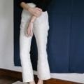 เหลือแค่ไซส์ L นะคะ*  ชื่อสินค้า : Bell Bottom Pants color Natural กางเกงขายาว สีเบจธรรมชาติ เอวสูง ทรงพอดีตัว ซิปซ่อนข้างลำตัว ปลายขาบานออกเล็กน้อย ใส่ได้ทั้งวันชิวๆ และวันทำงาน สามารถมิกซ์ได้กับเสื้อทุกสี สวมใส่สบาย  สี : ครีม fabric : linen 100%  #กางเกง #กางเกงผู้หญิง #กางเกงขายาว #กางเกงขายาวผู้หญิง #กางเกงผู้หญิงขายาว