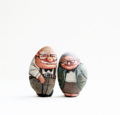 Stone Painting -Made to order -Cartoon stone painting -Size 7 Cm. -Paper boxes package