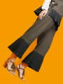 """high quality pleated trousers  Alex Pleated Trousers  brand: einfarbik material: wool, cotton, polyester made in Thailand fabric made in Japan Size : One Size (27-31inch) ไซส์ : Free Size (27-31 นิ้ว ด้านหลังเป็นยางยืด) elastic waist I suggest dry clean for winter wool clothing. """"unique, comfortable""""  #กางเกง #กางเกงขายาว #กางเกงผู้หญิง #กางเกงผู้หญิงขายาว #กางเกงขายาวผู้หญิง"""