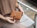 "Charlotte: short wallet , wallet , leather wallet รุ่น Charlotte กระเป๋าสตางค์ใบพับสั้น หนังวัวแท้ปั่นลายธรรมชาติ เท่ คลาสสิค ยิ่งใช้ยิ่งสวยให้ลุคความมีสเน่ห์ของหนังแท้ ทนรอยขีดข่วน มีขนาดพอเหมาะไม่เปลืองที่ในกระเป๋าสะพาย function เลิศ การใช้งานสะดวกใส่ธนบัตรได้โดยไม่ต้องพับพร้อมช่องย่อยต่างๆภายใน หยิบบัตรง่าย มีที่เก็บเหรียญ ช่องและรายละเอียดตัดเย็บเนี๊ยบโดยช่างที่ชำนาญกระเป๋าเล็กโดยเฉพาะ   Size : W 4.5"" x H 4""  2 ช่องหลักใส่ธนบัตร 7 ช่องการ์ด 2 ช่องสลิป โน๊ต 1 ช่องด้านใน 1 ช่องซิป พร้อมด้วยช่อง 2 ช่อง  #wallet #leather #clutch #purse #Charinbag"