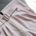 "Halter Top + Belted Pants   Pre-Order 3 Colors Cloud/Beige Pink/Navy  Halter Top Freesize Bust 35"" Length 20""  Belted Pants Size Available S Waist 25"" Hip 35-36"" Length 40"" M Waist 27 Hip 37-38"" Length 41"" L Waist 29"" Hip 39-40"" Length 42""  #เสื้อผ้าผู้หญิง #เสื้อผู้หญิง #เสื้อสายเดี่ยว #สายเดี่ยว #กางเกง #กางเกงผู้หญิง #กางเกงขายาว #กางเกงขายาวผู้หญิง"