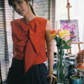 """ชื่อสินค้า : Ruffle Sleeveless Crop Top (Red) freesize Bust 35-36 """" lenght16""""  colors : แดง red  #เสื้อผ้าผู้หญิง #เสื้อผู้หญิง #เสื้อแขนกุด"""