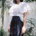 """ชื่อสินค้า : Ruffle Skirt S-M waist 26-27 hip 36  M-L waist 28-29 hip 38 """" Fabric : Linen 100% สี : กรม Navy  #กระโปรง #กระโปรงสั้น"""