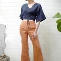 """ชื่อสินค้า : Monday Wrap Top (Navy) free size (bust up to 38"""") ผูกได้ตามตัว length 17"""" Linen100% สี : กรม Navy  #เสื้อผ้าผู้หญิง #เสื้อผู้หญิง #เสื้อแขนกุด"""