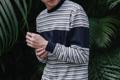 ชื่อสินค้า : Panel Stripe Navy เสื้อยืดแขนยาว ลายทาง จั๊มพ์แขน เสื้อยืดเรียบๆ ดีไซน์เก๋ จะใส่เป็น เสื้อคู่ หรือใส่เดี่ยวๆ ก็ดูดีอย่าบอกใคร  สี : กรม Navy ขนาด : M / L / XL  #เสื้อยืด #เสื้อยืดคอกลม #เสื้อยืดคอกลมแขนยาว #เสื้อยืดแขนยาว #เสื้อแขนยาว #เสื้อคอกลม