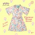 """Flower wrap (990-) ขนาดปกติ อก 33"""" เอว 26"""" ยาว"""" 34"""" -  2 way dress ตัวนี้เปนเดรสทรงwrap นะคะ  1.สามารถใส่เป็นเดรสแบบผูก ตัวเดรสสามารถขยายตามตัวคนใส่ได้ค่ะ 2.สามารถสวมเปนเสื้อคลุมทับชุดด้านในก็ได้เก๋ไปอีกแบบค่า  #เดรส #เดรสสั้น #มินิเดรส #เดรสสั้นแขนสั้น #เดรสแขนสั้น"""