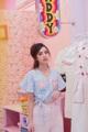 """Daisy Wrap Blouse(790-) เสื้อทรงwrappingปักดอกเดซี่   Onesize  อก34"""" เอว26"""" ยาว 16"""" Color : ฟ้า Blue  #เสื้อผ้าผู้หญิง #เสื้อผู้หญิง #เสื้อครอป #เสื้อครอปแขนสั้น #เสื้อแขนสั้น"""