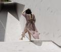 MAILLOT CLOTHING - CORONA - material : Linen สี : น้ำตาล Rosybrown  #เดรส #เดรสยาว#เดรสแขนยาว #เดรสเว้าหลัง #เว้าหลัง
