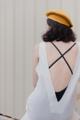 MAILLOT CLOTHING - VERBENA - material : Linen สี : ขาว Florawhite  #เดรส #เดรสยาว#เดรสแขนกุด #เดรสเว้าหลัง #เว้าหลัง