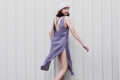 MAILLOT CLOTHING - VERBENA - material : Linen สี : ม่วง Vintagegrape  #เดรส #เดรสยาว#เดรสแขนกุด #เดรสเว้าหลัง #เว้าหลัง