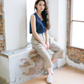 """Midnight Earth Fabric : Linen Color : เบจ Natural Beige  Size : Free Size Waist : Elastic waist 25"""" - 37"""" Hip : up to 46"""" Length : 28.5""""  Detail :  - Soft Linen - Elastic waist at the backside - 2 side pockets  - Casual and comfortable to wear  - Made in THAILAND - Model Height : 160 cm.  #กางเกง #กางเกงขายาว #กางเกงผู้หญิง #กางเกงผู้หญิงขายาว #กางเกงขายาวผู้หญิง"""